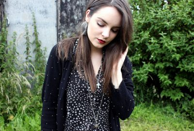 Star print shirts and ear cuffs